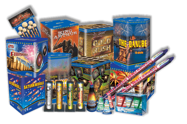 Telepek, Rakéták, Római gyertyák, Játékos termékek