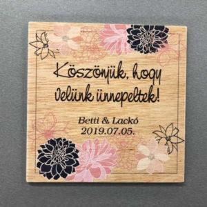 Színes képpel, fotóval nyomtatható fa táblácska, egyedi ajándékként